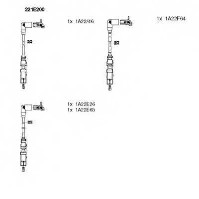 Комплект проводов зажигания BREMI 221E200 - изображение