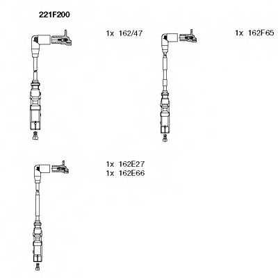 Комплект проводов зажигания BREMI 221F200 - изображение