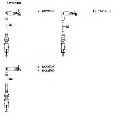 Комплект проводов зажигания BREMI 221H200 - изображение