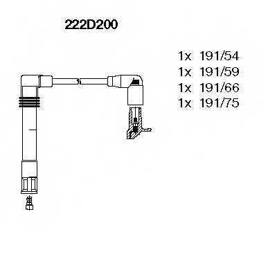 Комплект проводов зажигания BREMI 222D200 - изображение