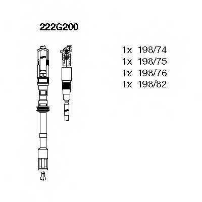 Комплект проводов зажигания BREMI 222G200 - изображение