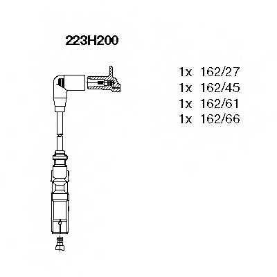 Комплект проводов зажигания BREMI 223H200 - изображение