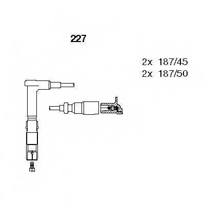 Комплект проводов зажигания BREMI 227 - изображение