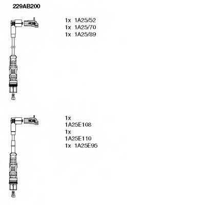 Комплект проводов зажигания BREMI 229AB200 - изображение