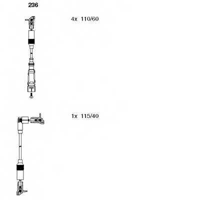 Комплект проводов зажигания BREMI 236 - изображение
