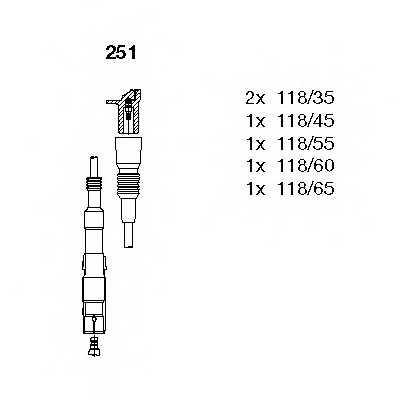 Комплект проводов зажигания BREMI 251 - изображение