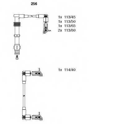Комплект проводов зажигания BREMI 256 - изображение