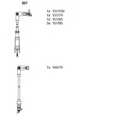 Комплект проводов зажигания BREMI 257 - изображение