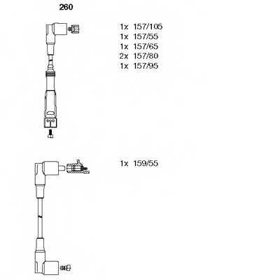 Комплект проводов зажигания BREMI 260 - изображение
