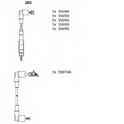Комплект проводов зажигания BREMI 263 - изображение
