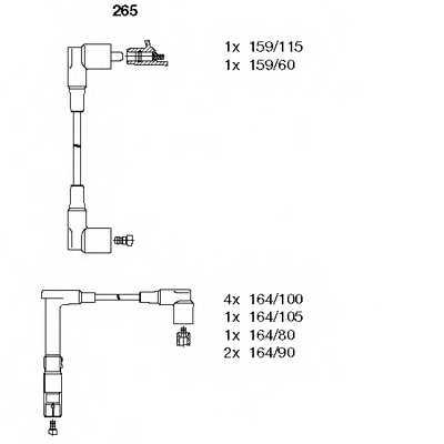 Комплект проводов зажигания BREMI 265 - изображение