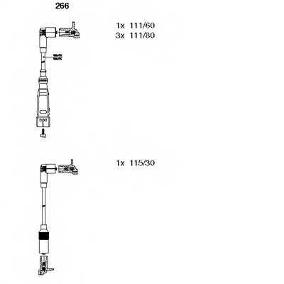 Комплект проводов зажигания BREMI 266 - изображение
