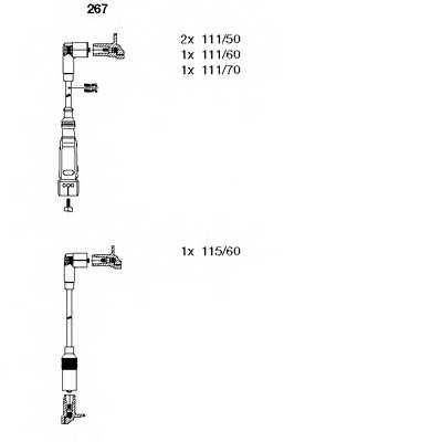 Комплект проводов зажигания BREMI 267 - изображение
