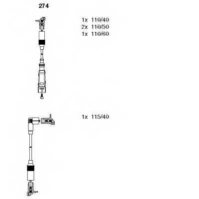 Комплект проводов зажигания BREMI 274 - изображение