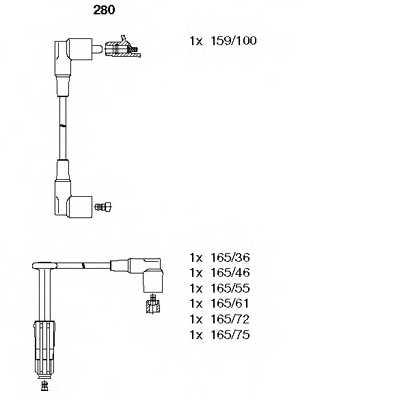 Комплект проводов зажигания BREMI 280 - изображение