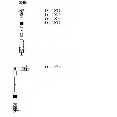 Комплект проводов зажигания BREMI 296B - изображение