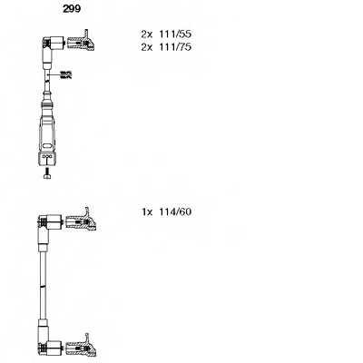 Комплект проводов зажигания BREMI 299 - изображение
