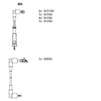 Комплект проводов зажигания BREMI 403 - изображение