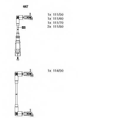 Комплект проводов зажигания BREMI 447 - изображение