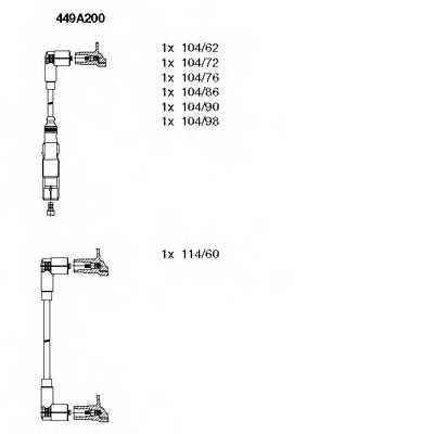 Комплект проводов зажигания BREMI 449A200 - изображение