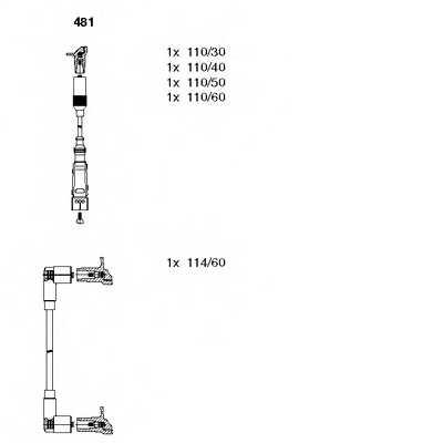 Комплект проводов зажигания BREMI 481 - изображение