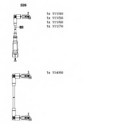 Комплект проводов зажигания BREMI 539 - изображение