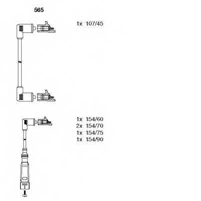 Комплект проводов зажигания BREMI 565 - изображение