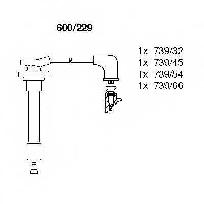 Комплект проводов зажигания BREMI 600/229 - изображение