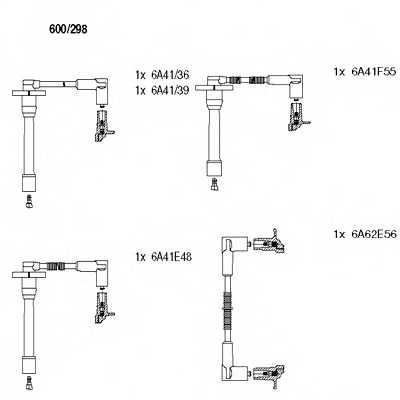 Комплект проводов зажигания BREMI 600/298 - изображение