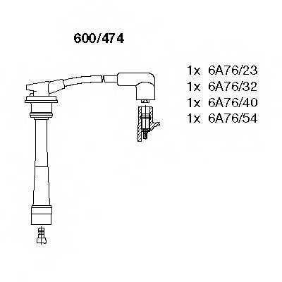 Комплект проводов зажигания BREMI 600/474 - изображение
