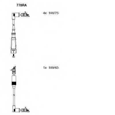 Комплект проводов зажигания BREMI 778RA - изображение
