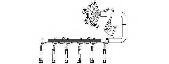 Комплект проводов зажигания BREMI 784A100 - изображение