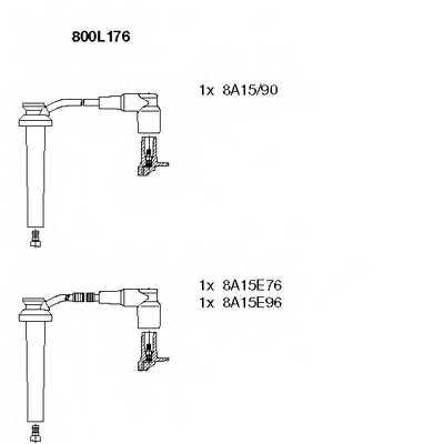 Комплект проводов зажигания BREMI 800L176 - изображение