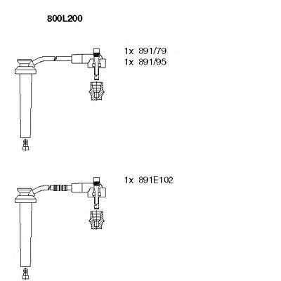 Комплект проводов зажигания BREMI 800L200 - изображение