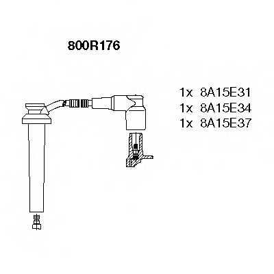 Комплект проводов зажигания BREMI 800R176 - изображение