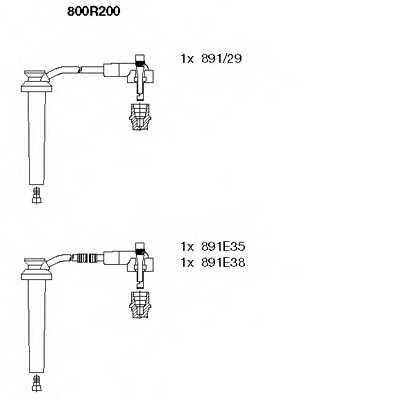 Комплект проводов зажигания BREMI 800R200 - изображение