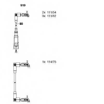 Комплект проводов зажигания BREMI 919 - изображение