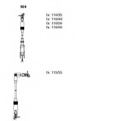 Комплект проводов зажигания BREMI 924 - изображение