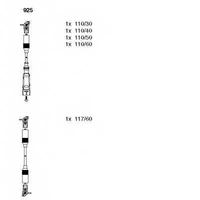 Комплект проводов зажигания BREMI 925 - изображение