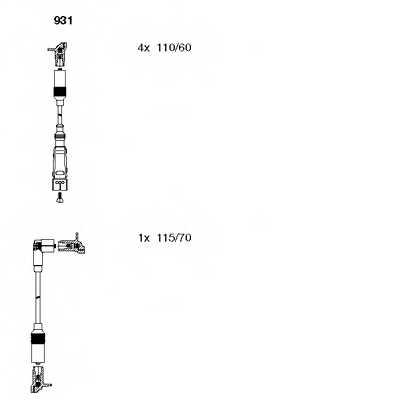 Комплект проводов зажигания BREMI 931 - изображение