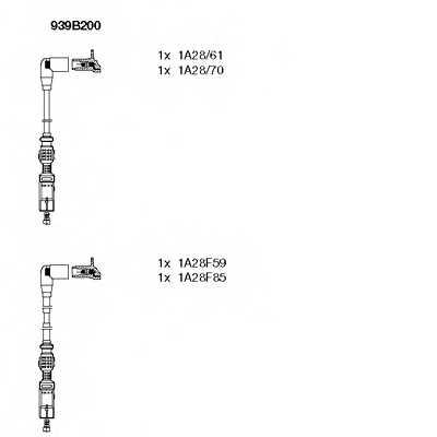 Комплект проводов зажигания BREMI 939B200 - изображение
