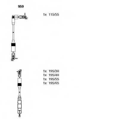 Комплект проводов зажигания BREMI 959 - изображение