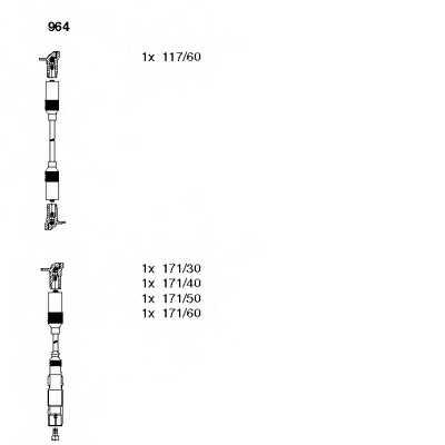 Комплект проводов зажигания BREMI 964 - изображение