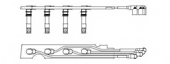 Комплект проводов зажигания BREMI 968G100 - изображение