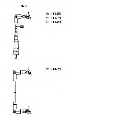 Комплект проводов зажигания BREMI 970 - изображение
