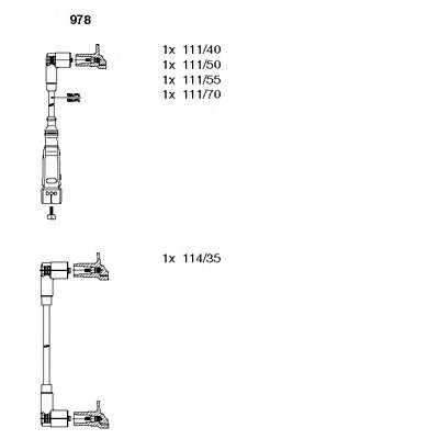 Комплект проводов зажигания BREMI 978 - изображение