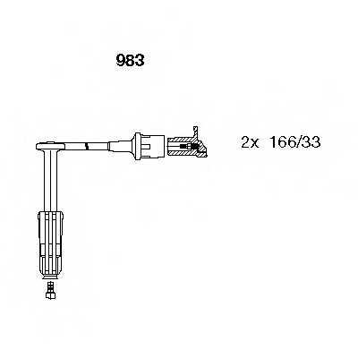 Комплект проводов зажигания BREMI 983 - изображение