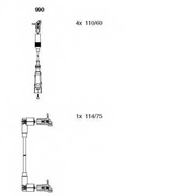 Комплект проводов зажигания BREMI 990 - изображение