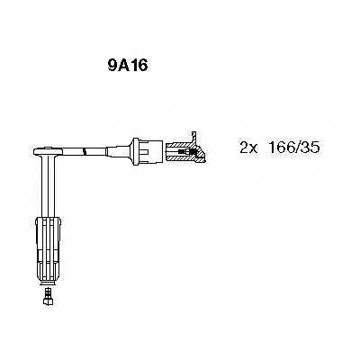 Комплект проводов зажигания BREMI 9A16 - изображение