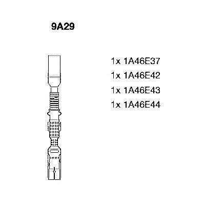 Комплект проводов зажигания BREMI 9A29 - изображение